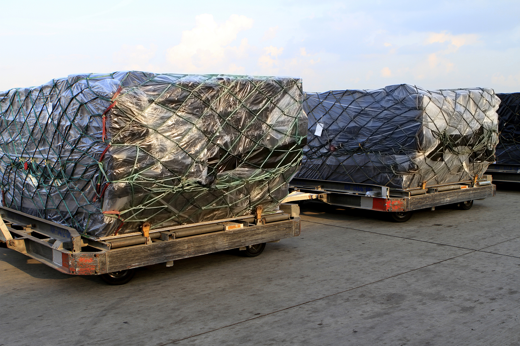 Airline cargo cover protects during airline transport
