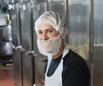 Hairnet in non-woven material