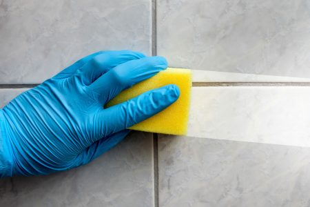 Nitrile gloves for janitorial services