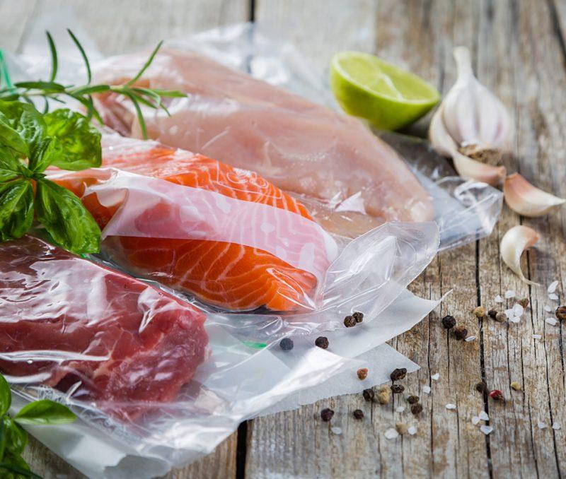 plastinpackade matvaror